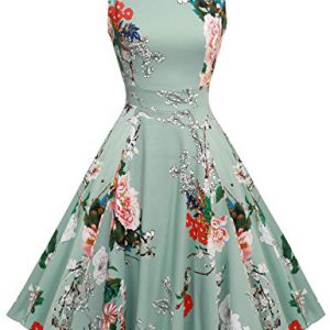 ACEVOG-Women-Sleeveless-Swing-Floral-Dress-For-Party-Cocktail-Light-Gray-M-0