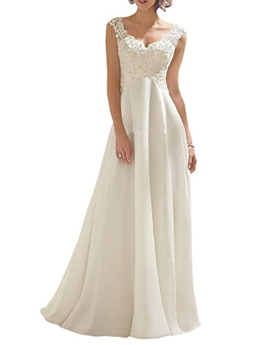 Generic Women's Summer Style Sleeveless Lace Wedding Dress Long White Tube Dress (size16)