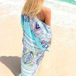 Bestyou® Women's Beachwear Cover-ups Tunic Chiffon Geometry Print Kimono Cardigan (Geometry Print H)