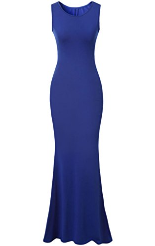 Blue Jersey Long Bridesmaid Dresses for Wedding Party Cheap