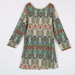 EFINNY Women's Casual Tribal Boho Babydoll Long T-shirt