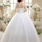 Eyekepper Double Shoulder Floor Length Bridal Gown Wedding Dress Custom Size