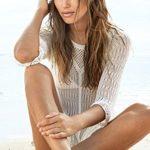 KingsCat Stylish Crochet Tassel Beachwear Bikini Swimsuit Cover up, One Size, White
