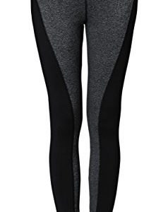 Neonysweets-Womens-Running-Yoga-Pants-Workout-Leggings-With-Pocket-Black-Gray-L-0