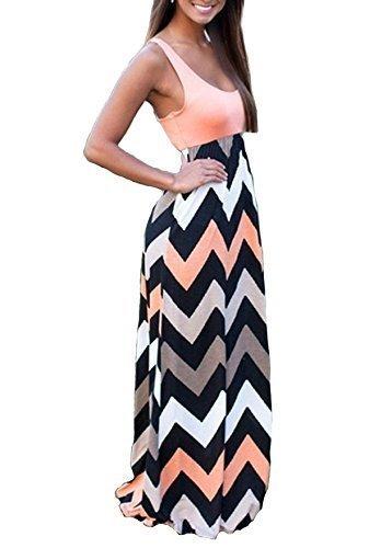 Print Tank Maxi Long Dress