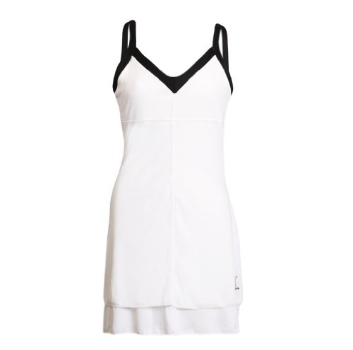 Cruise Control – Luxury Layer Two Tier Dress, White with Black Trim