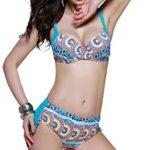 Two-piece High Waist Navy Stripe Bikini Bathing Suit