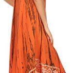 Sakkas 15009 – Alexis Embroidered Long Sleeveless Floral Caftan Dress / Cover Up – Burnt Orange – OS