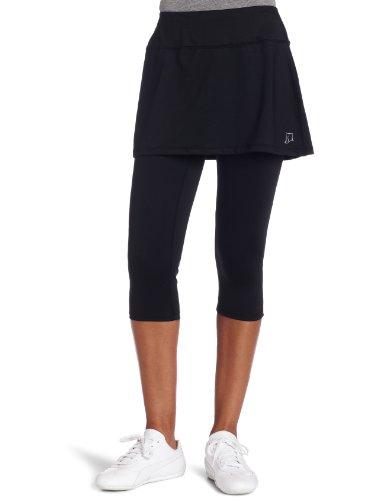 Skirt Sports Women's Lotta Breeze Capri Skirt – Skirt with Moisture-Wicking Capri Leggings Black, XXL