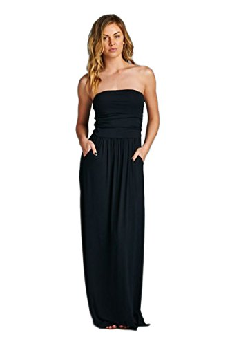 623a61935a Vanilla Bay Solid Maxi Dress,Medium,Black - Women & Ladies Clothes &  Fashion | Max Her