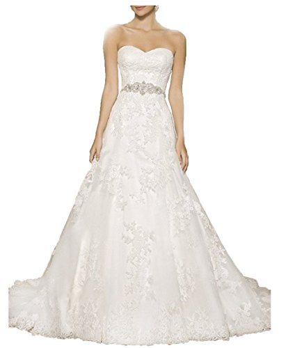 Vickyben Strapless a Line Wedding Dress 2029 Long Sleeveless Bridal Gown Ivory 14