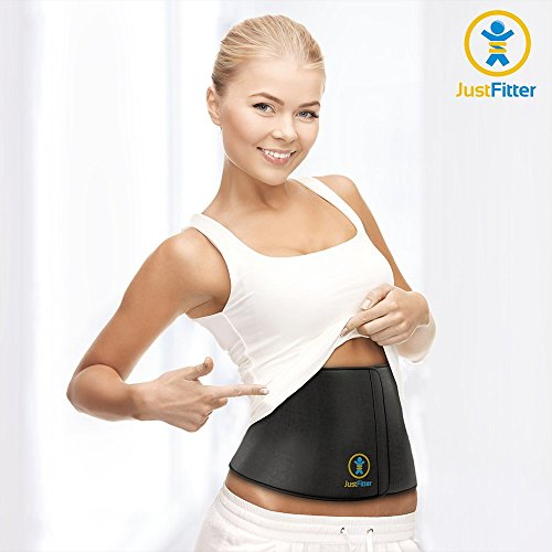 Waist Trimmer Belt For Men & Women – More Fully Adjustable Than Other Waist Slimming Ab Belts – Provides Best Support For Lower Back & Lumbar – Results Guaranteed!