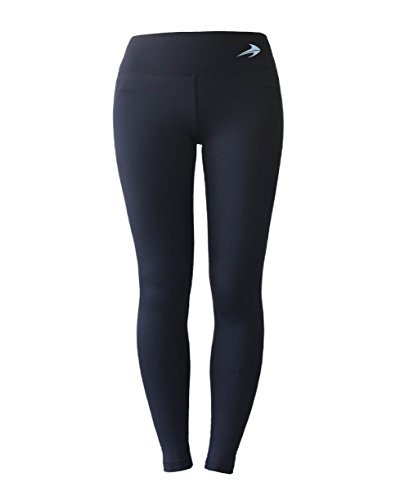 Women's Compression Pants (Black – S) Best Full Leggings Tights for Running, Yoga, Gym by CompressionZ