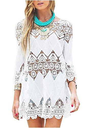 Women's Fashion Swimwear Crochet Tunic Cover Up / Beach Dress