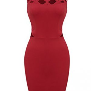 Zeagoo-Womens-Sleeveless-Hollow-Out-Cocktail-Party-Mini-Pencil-Bodycon-DressLargeRed-0