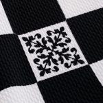 HOMEYEE Women's Elegant Patchwork Sheath Sleeveless Business Dress B290 (M, Black + Grid)