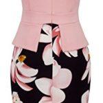 Homeyee Women's Elegant Chic Bodycon Formal Dress B288 (XL, Light Pink)