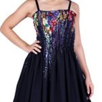 MayriDress Maxi Dress Plus Size Clothing Black Ball Gala Party Sundress Designer (2X, Black/ Colorful Floral)