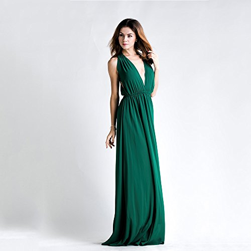 e4b6eaf34 Miss ord Sexy Deep V Backless Sleeveless Cross Back Maxi Dress - Max Her is  an online women Apparel and Fashion Blog