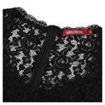 Miusol Women's Casual Deep- V Neck Sleeveless Vintage Maxi Black Dress Small