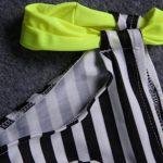 Nulibenna Push Up Two Piece Bikini Swimsuit Candy Patch Padded Swimwear Yellow Large