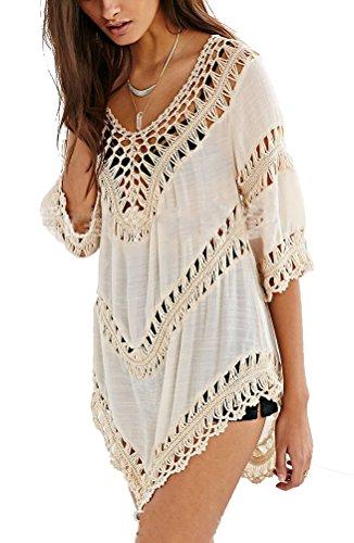 Inewbetter womens beach dress cover up beachwear swimwear for Beach shirt cover up